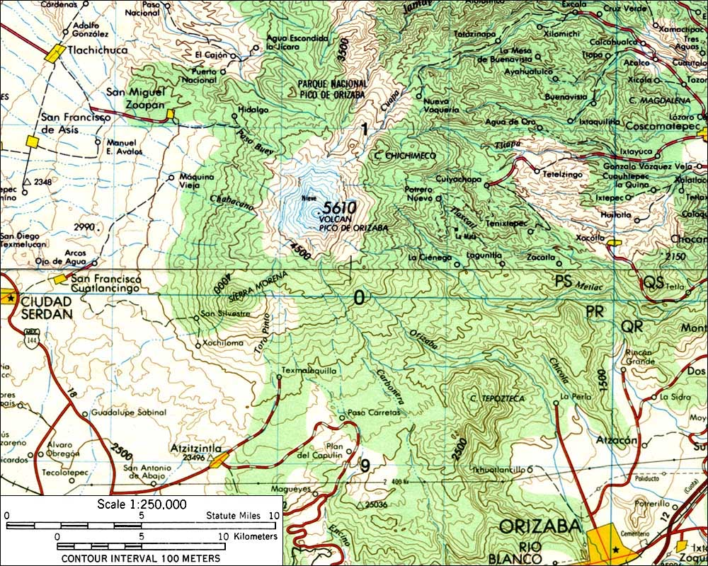 Topographic map of the Pico