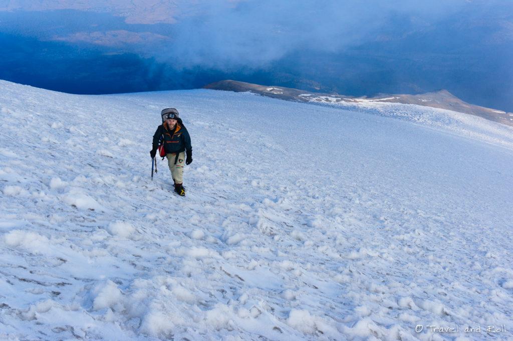 Guillaume on glacier Jamapa.