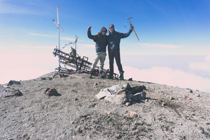 On top of Pico de Orizaba 5700m