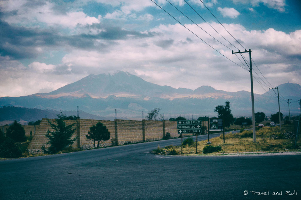 El Pico de Orizaba – The GIANT! Walked from this sign, all the way to the top up there in the clouds