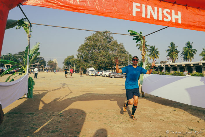 Running a 10km in Hampi India