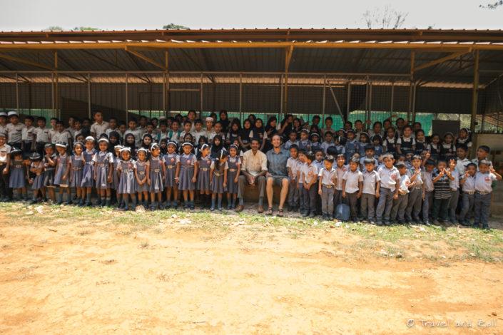 Visiting a school in Wayanad, India