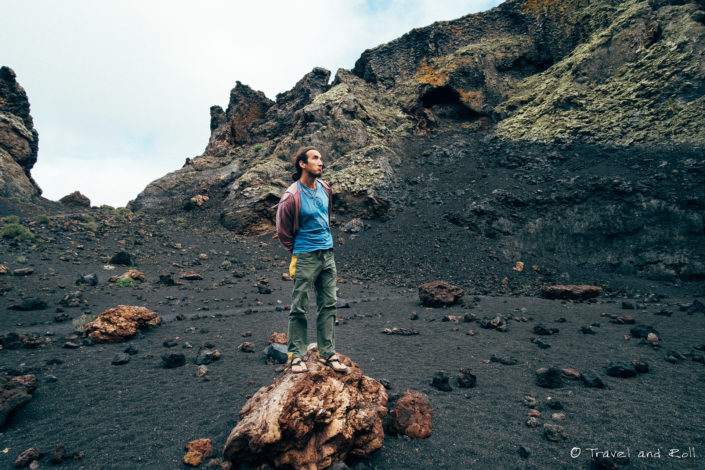 In the middle of the oldest volcano of Lanzarote, Canary island. On my journey hitchhiking on sailing boats across the Atlantic