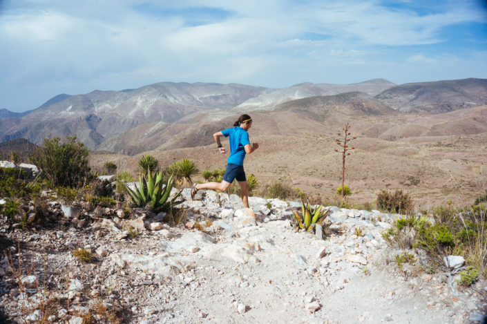 Geoffrey running in Real de Catorce