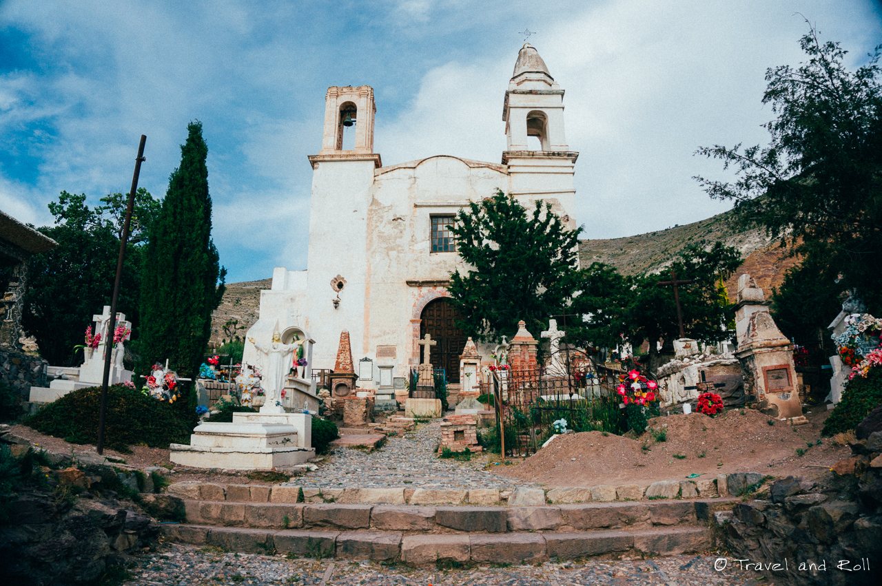 Real de Catorce, the church surrounded by the cemetery