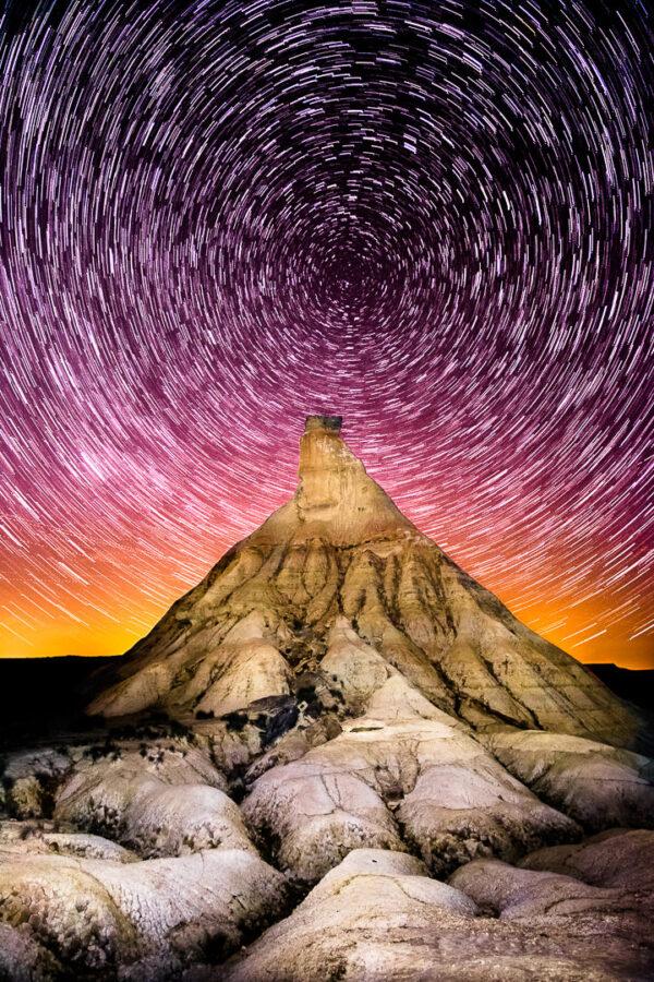 sky, star, galaxy, night, bardenas reales, spain, europe, science