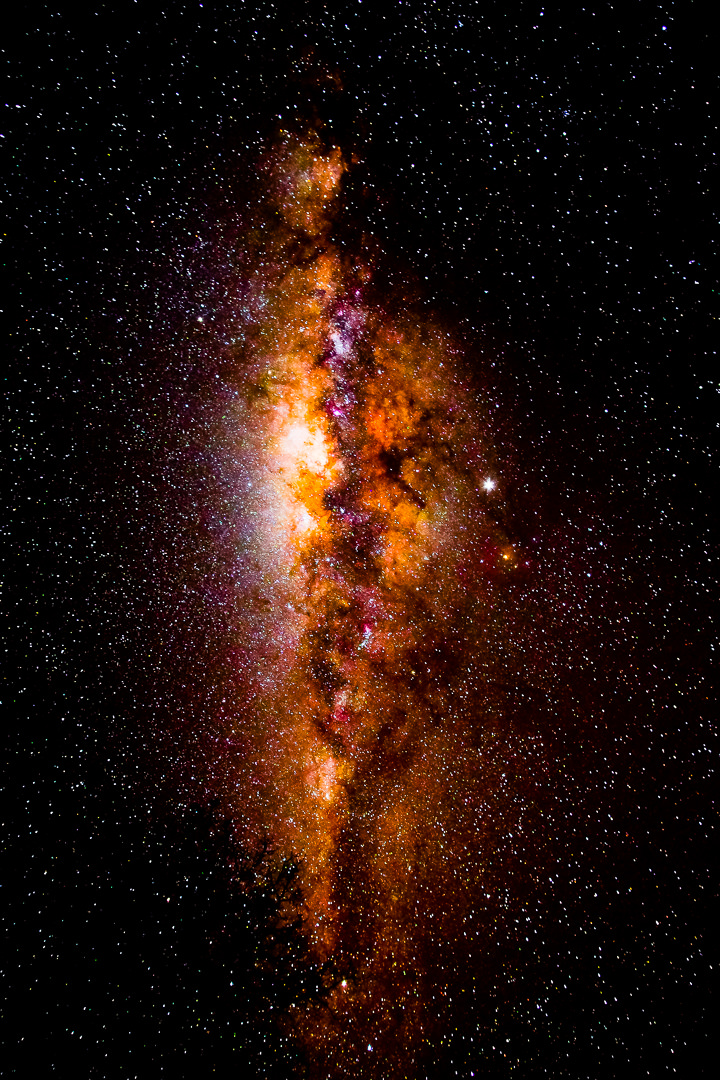 Explosive view of the milky way above us